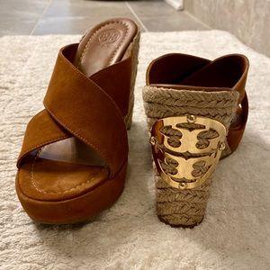Tory Burch Bailey Wedge Espadrille Sandal Size 8.5
